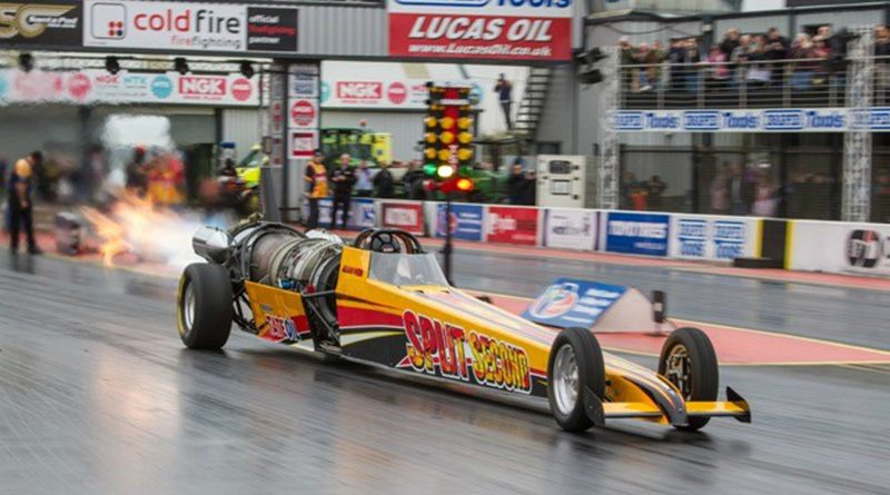 Another Race for the Split Second Jet Car Sponsored by Tate Oil